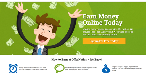 How To Earn Cash And Point On Offernation