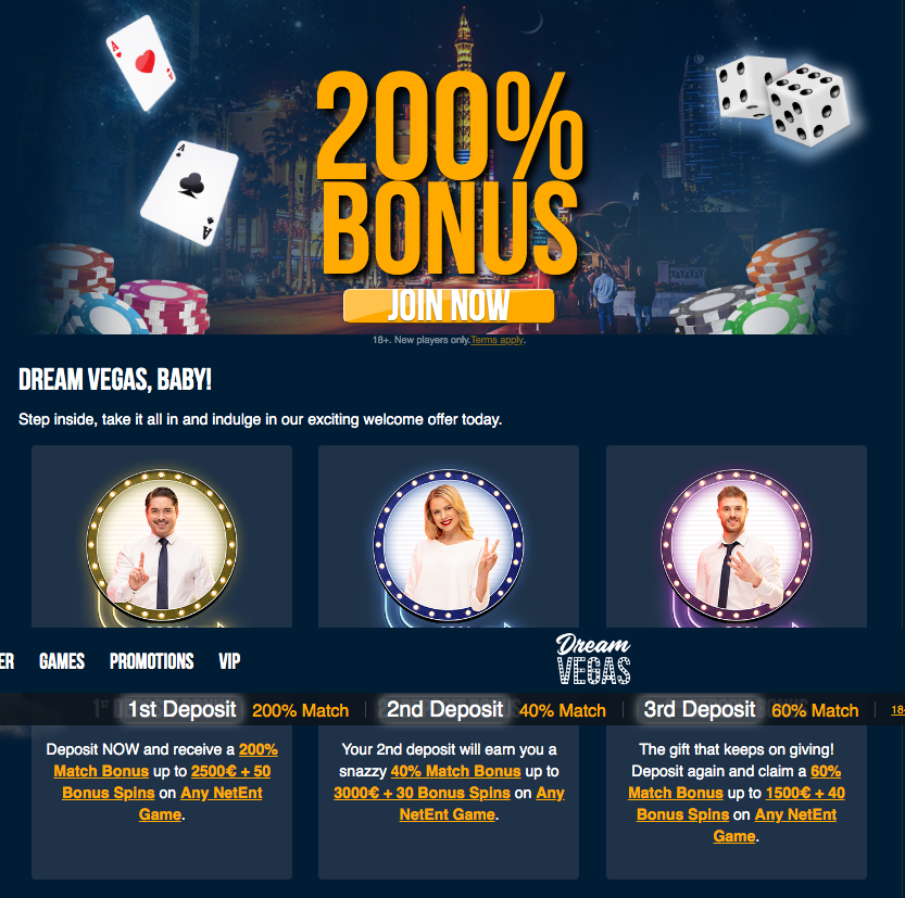 Dream Vegas Bonuses and Promotions