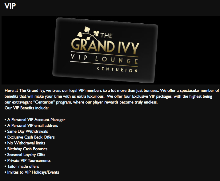 Grand Ivy VIP