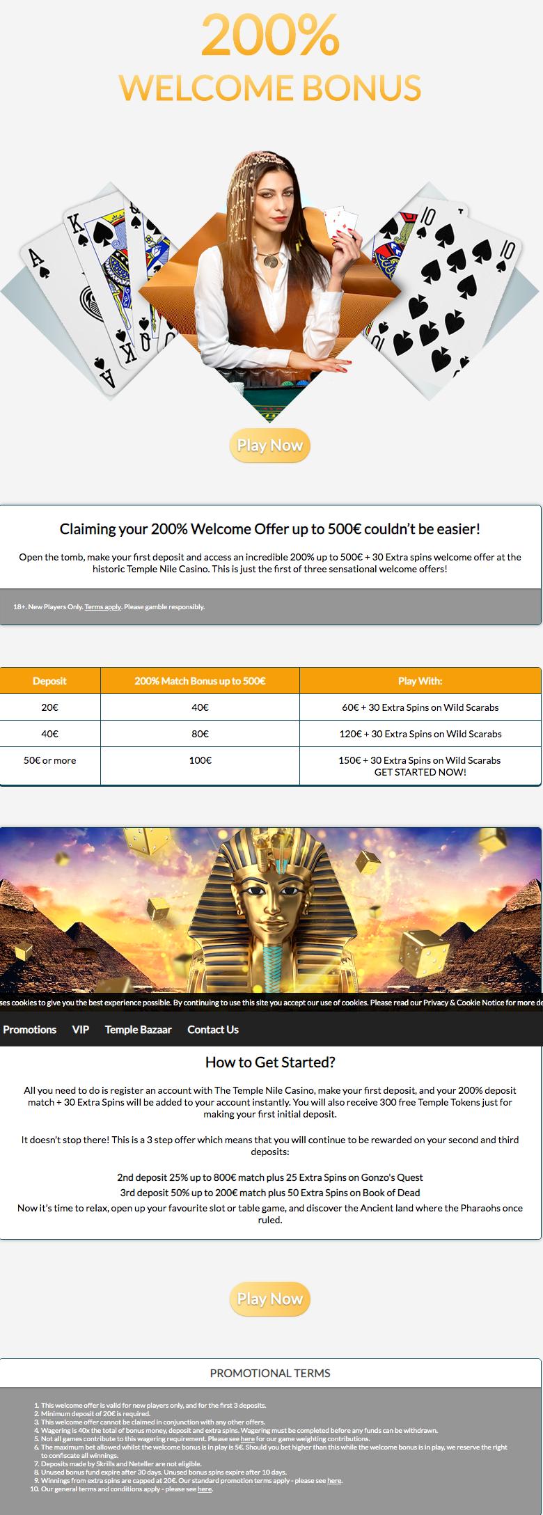Temple Nile Bonuses