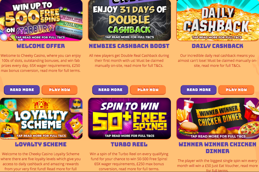 Cheeky Casino Promotions