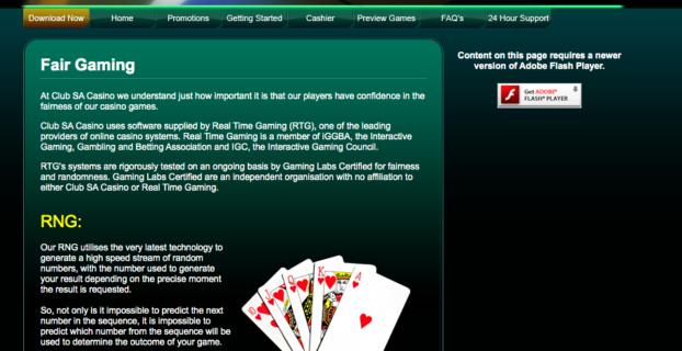 Club SA Casino Scam